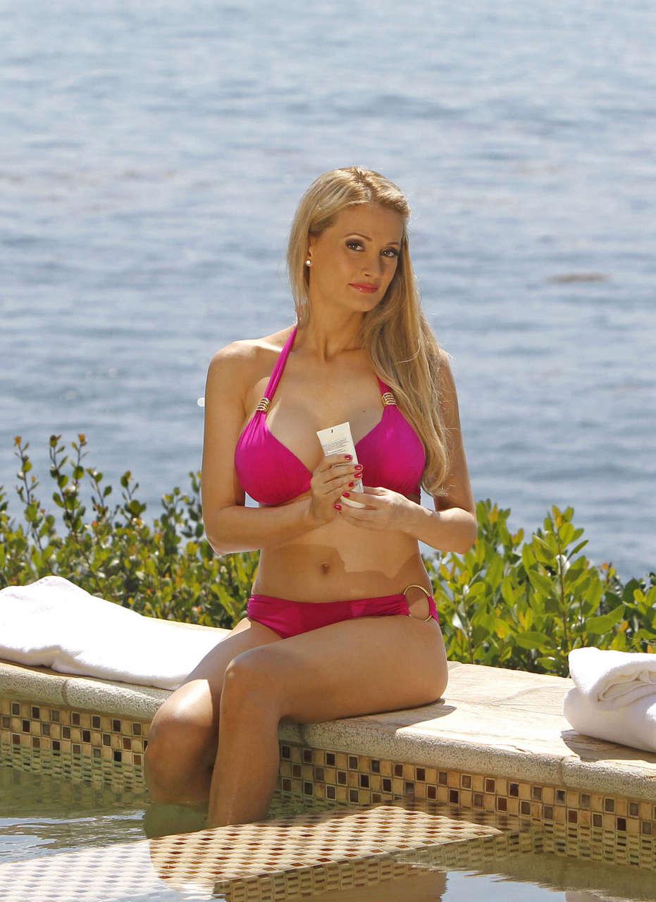 Holly Madison Pink Bikini Beach Los Angeles