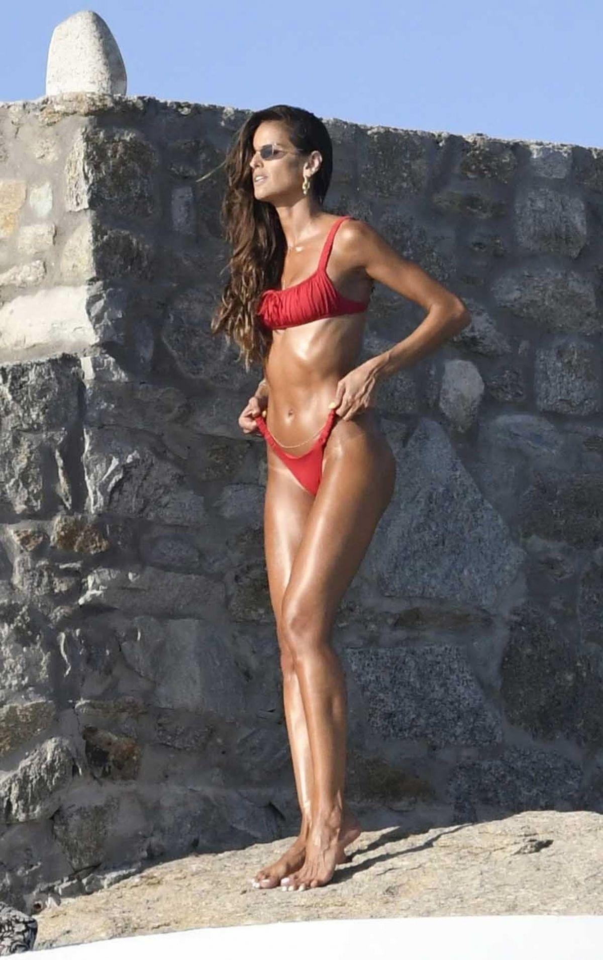 Iizabel Goulart Red Bikini Her Hotel Greece