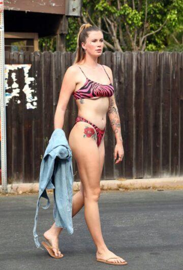 Ireland Baldwin Bikini Out Malibu