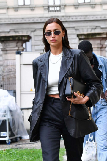 Irina Shayk Leaves Hugo Boss Fashion Show Milan