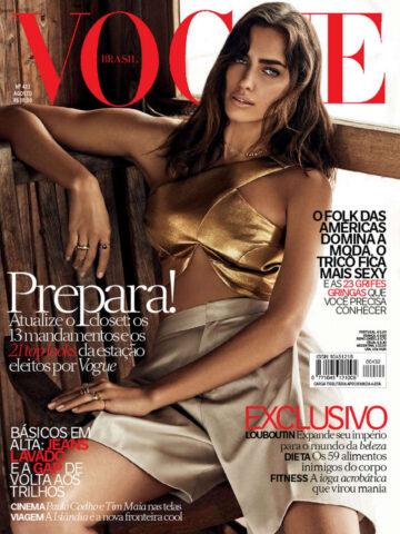 Irina Shayk Vogue Magazine Brazil August 2014 Issue