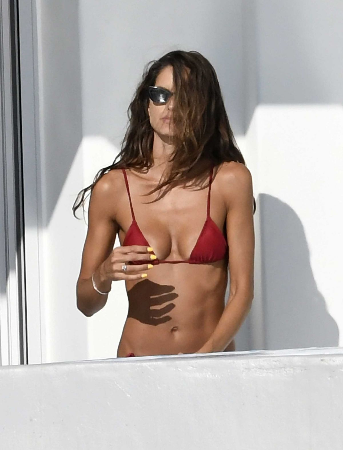 Izabel Goulart Bikini Vacation Greece