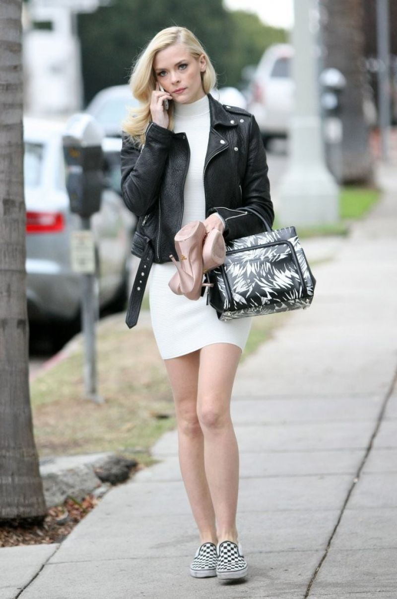 Jaime King Tight Mini Dress Out Los Angeles