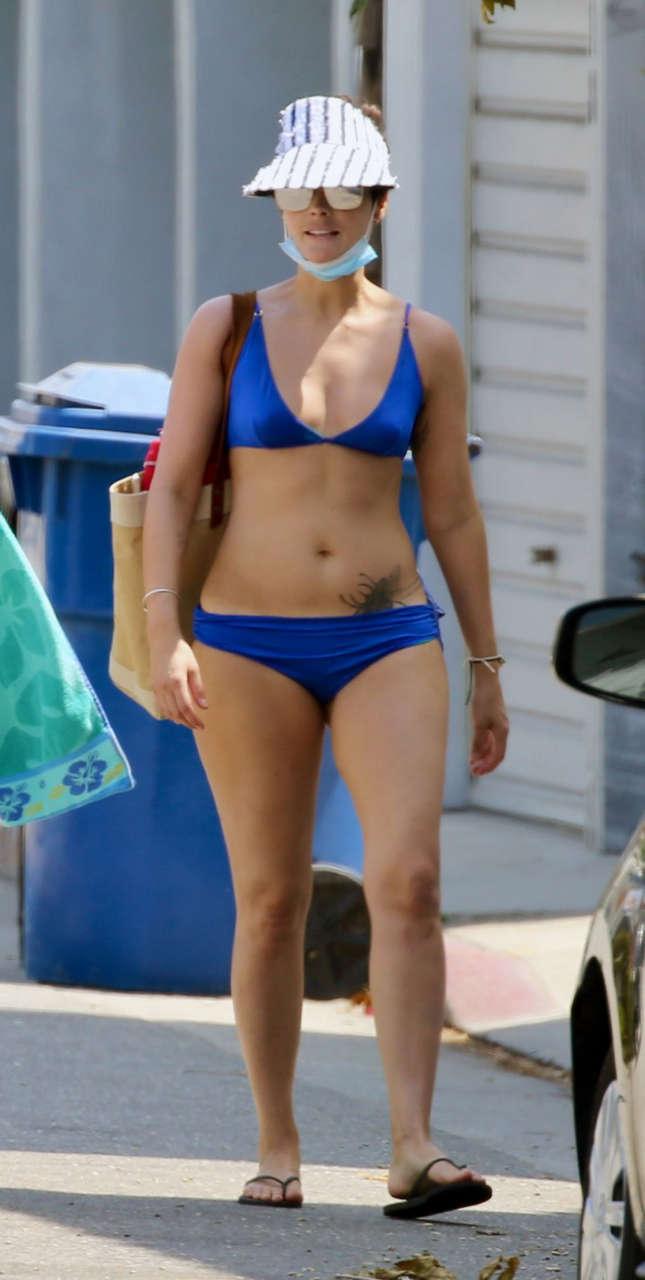 Jaimie Alexander Bikini Beach Malibu