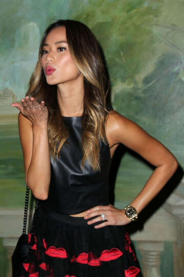 Jamie Chung Alice Olivia By Stacey Bendet Fashion Show New York