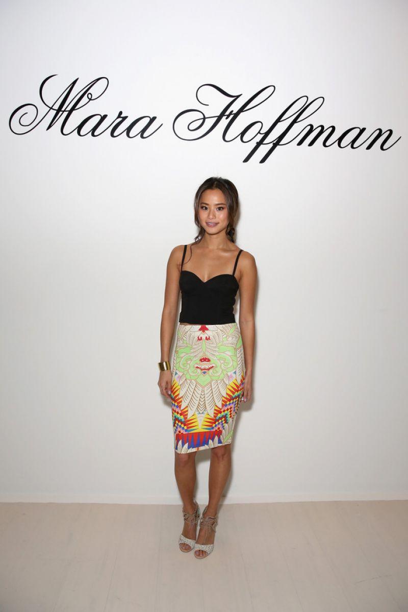 Jamie Chung Mara Hoffman Fashion Show New York