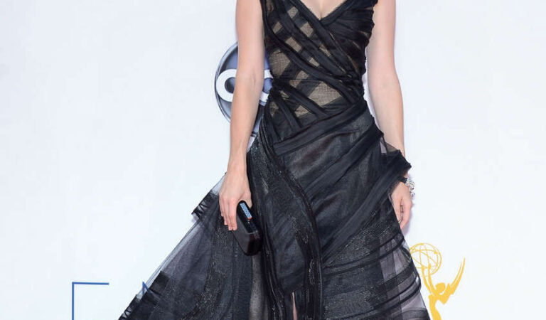 January Jones 64th Primetime Emmy Awards Los Angeles (3 photos)