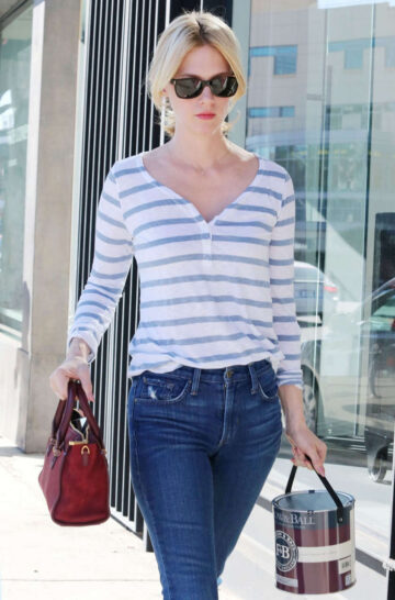 January Jones In Tight Jeans Out West Hollywood