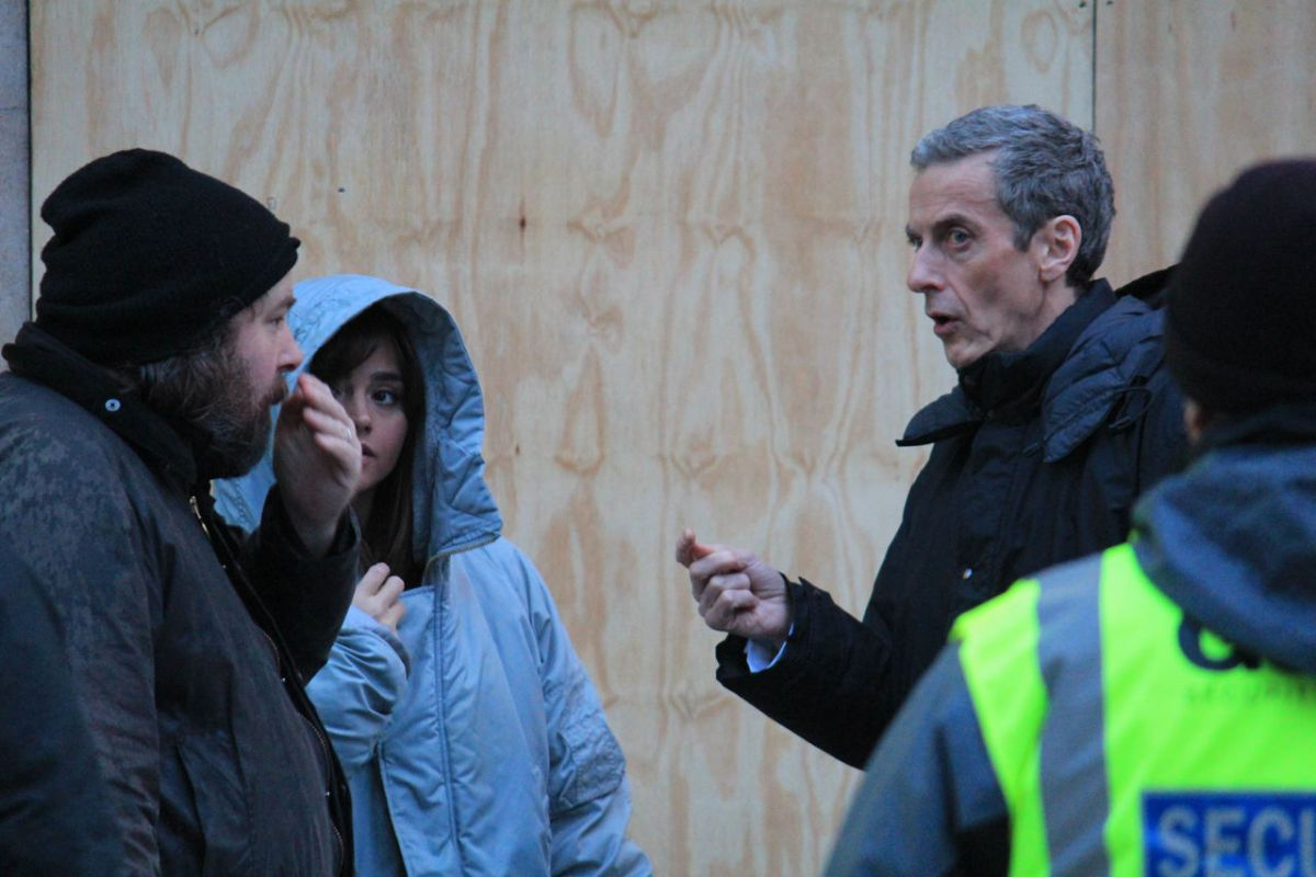 Jenna Louise Coleman Set Dr Who Cardiff
