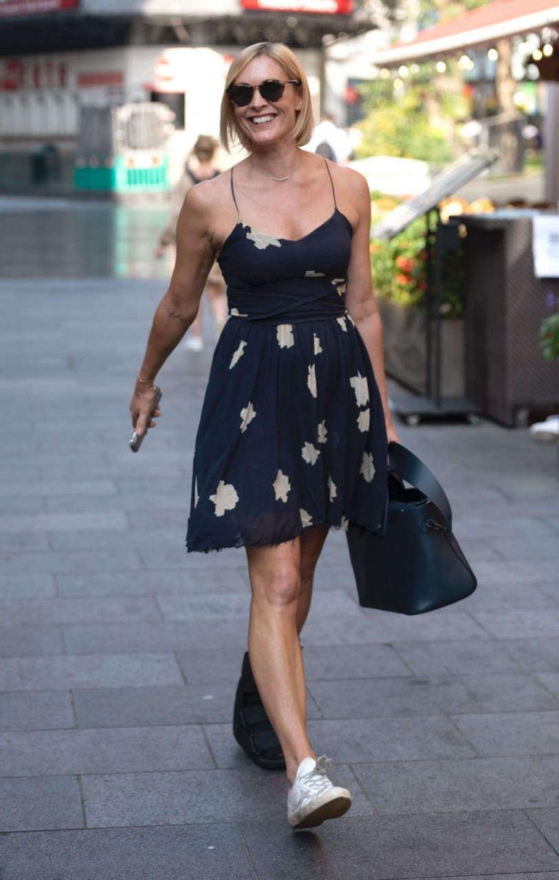 Jenni Falconer Arrives Global Radio London