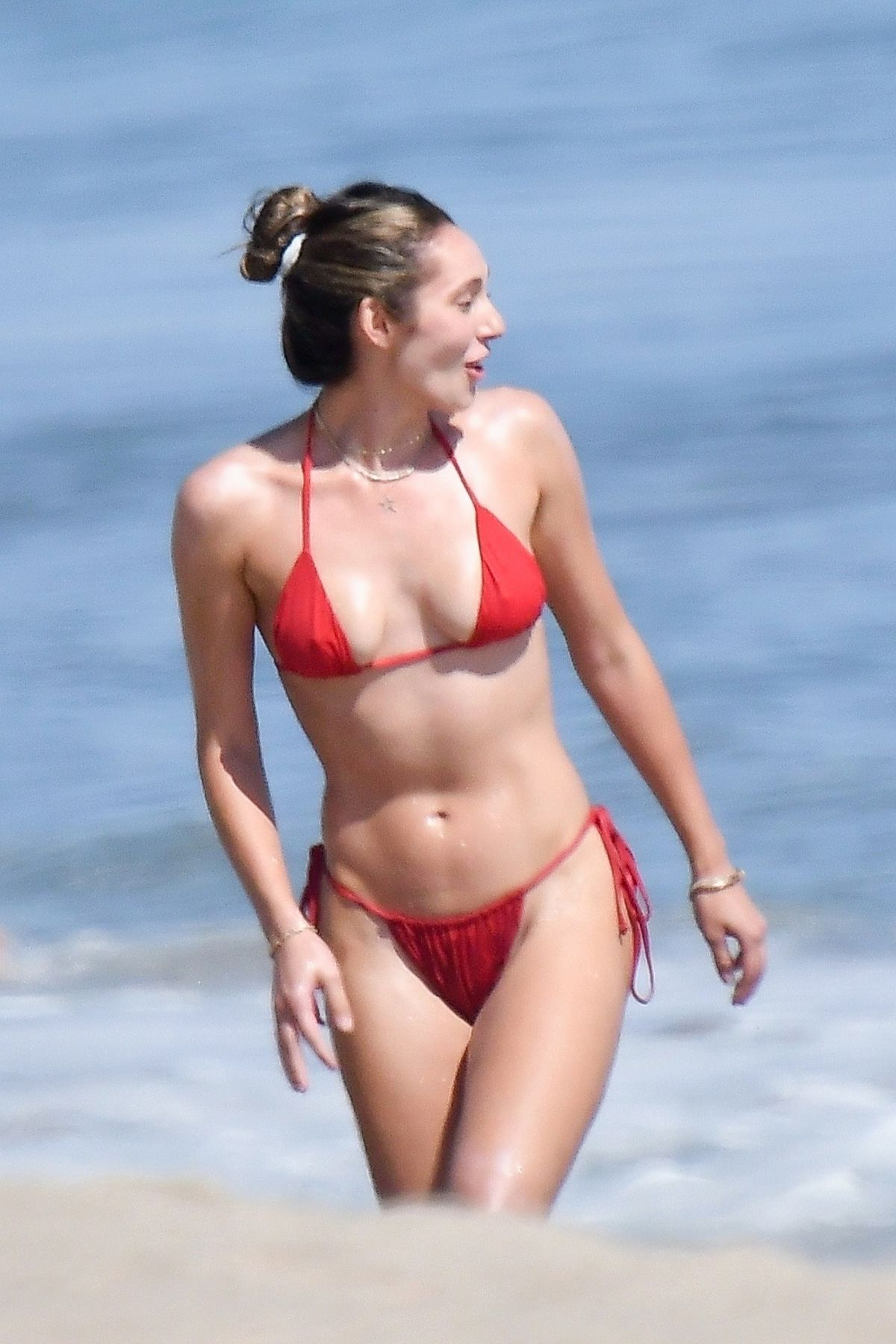 Jennifer Flanvin Sistine Sophia Scarlet Stallone Out Beach Malibu
