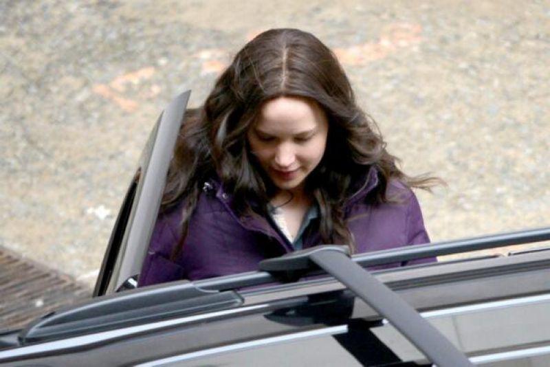 Jennifer Lawrence Set Hunger Games Mockingjay Part 2 Atlanta