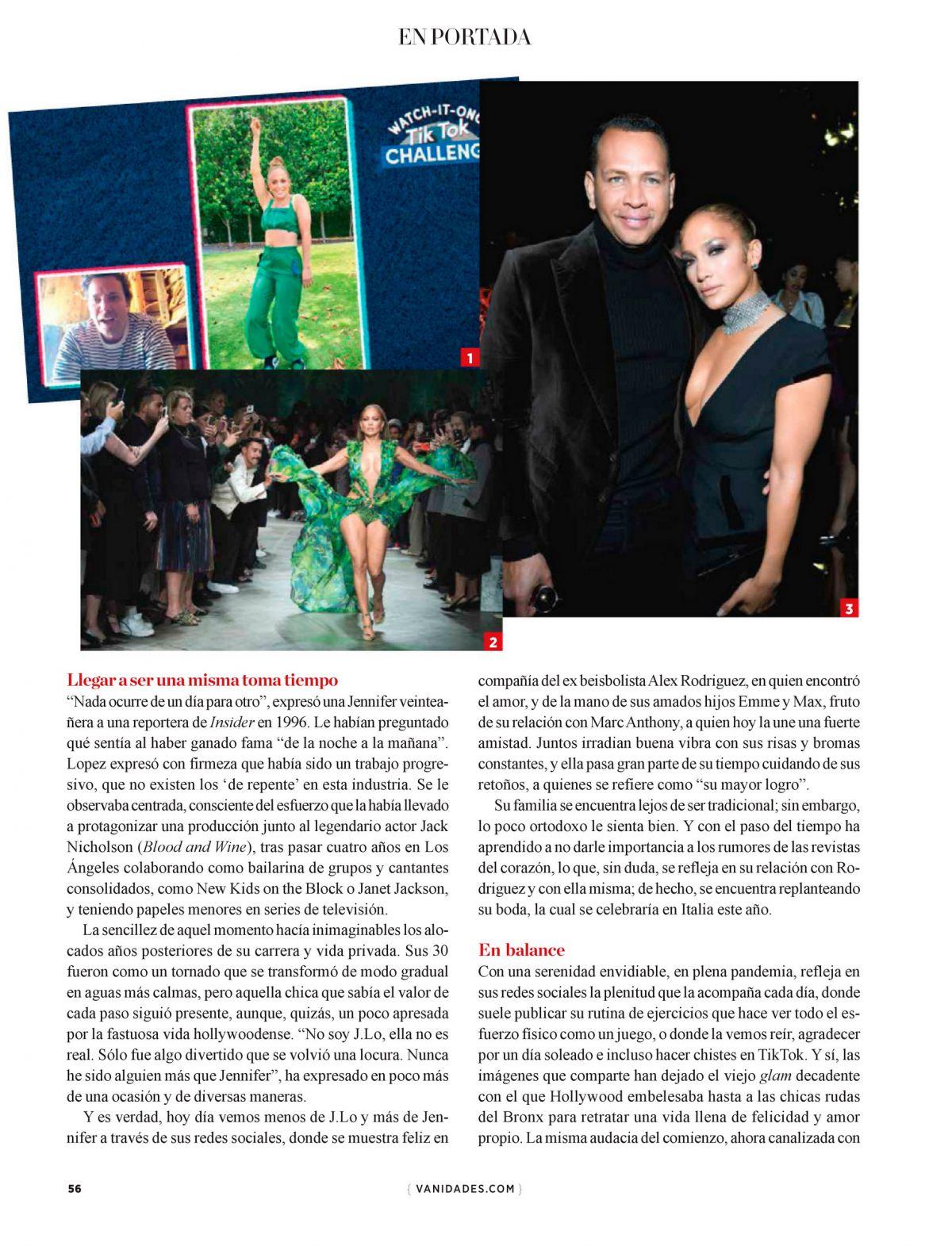 Jennifer Lopez Vanidades Mexico August