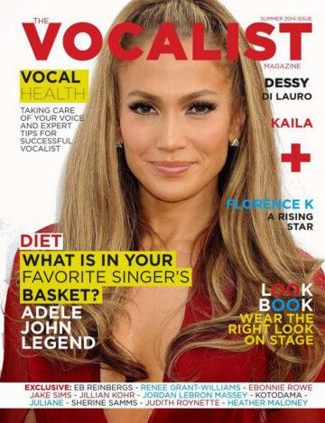 Jennifer Lopez Vocalist Magazine Summer 2014 Issue