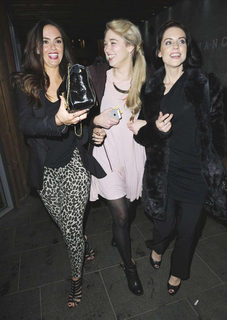 Jennifer Metcalfe Amanda Clapham Stephaine Waring Out Manchester