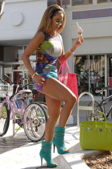 Jennifer Nicole Lee Tight Mini Dress Out About Miami