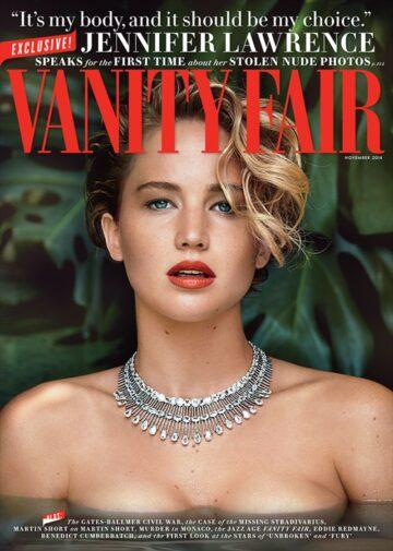 Jennufer Lawrence Vanity Fair Magazine November 2014 Issue