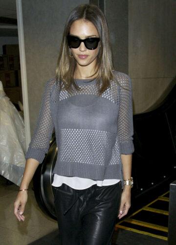 Jessica Alba Arrives Lax Airport