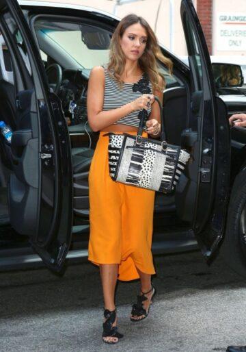 Jessica Alba Arrives Meeting New York