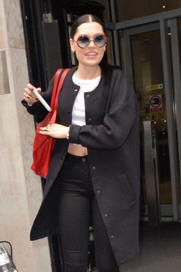 Jessie J Arrives Bbc Radio Studios London