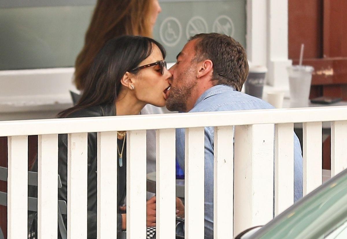 Jordana Brewster Mason Morfit Out Kissing Brentwood