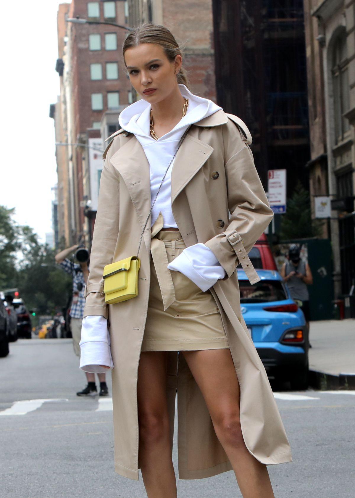 Josephine Skriver Filming Maybelline Commercial New York