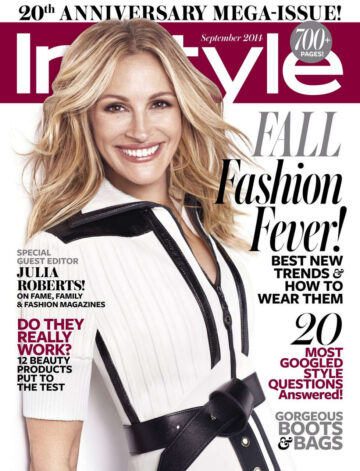 Julia Roberts Instyle Magazine September 2014 Issue