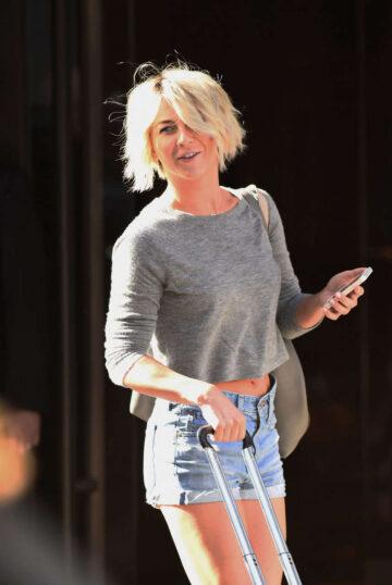 Julianne Hough Arrives Trump Soho Hotel New York