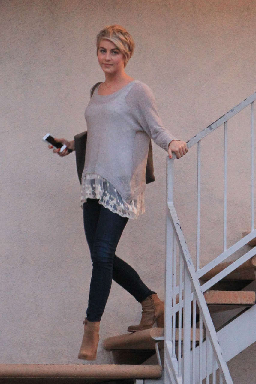 Julianne Hough Heading To Meeting Los Angeles