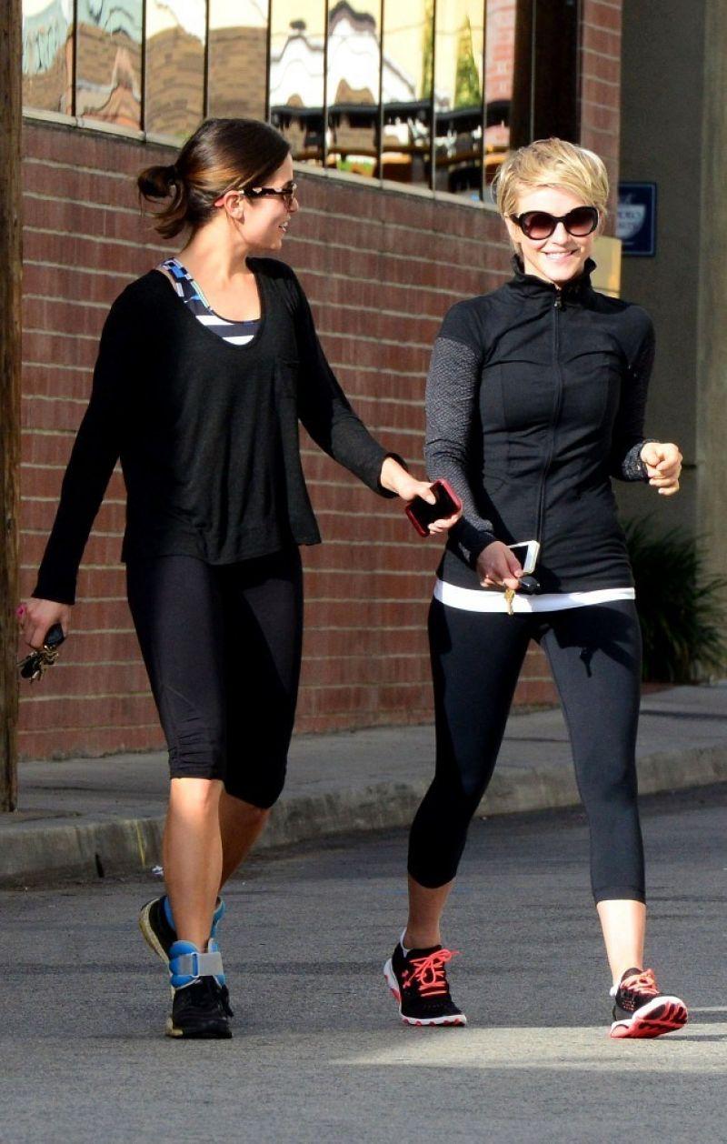 Julianne Hough Nikki Reed Leaves Gym Studio City