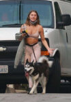 Julianne Hough Tights Out With Her Dog Los Angeles