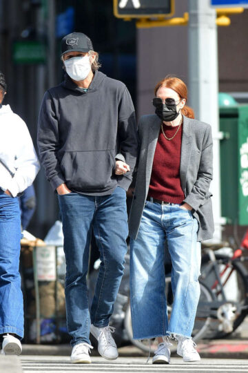 Julianne Moore Out About New York