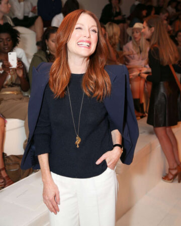 Julianne Moore Ralph Lauren Fashion Show New York