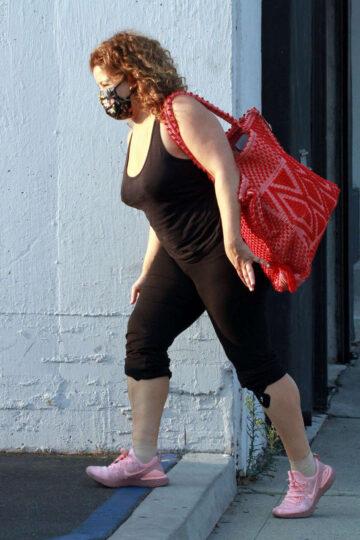 Justina Machado Leaves Dance Studio Los Angeles