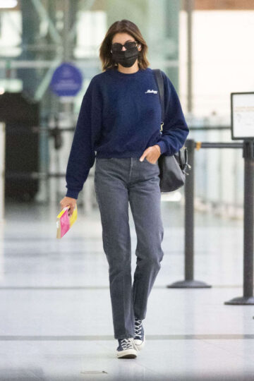 Kaia Gerber Arrives Jfk Airport New York