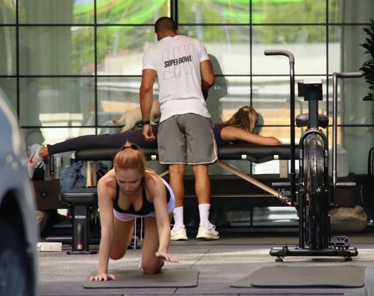 Kaia Gerber Cara Delevingne Workout Gym Los Angeles