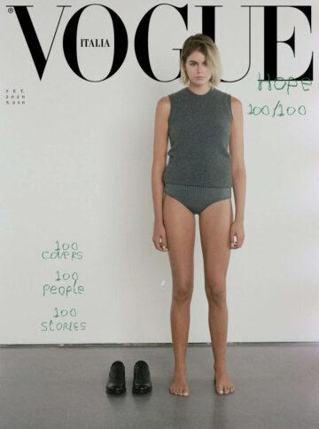 Kaia Gerber For Vogue Magazine Italy September