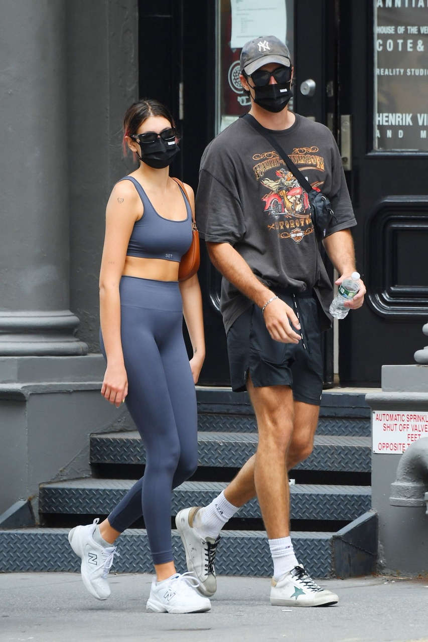 Kaia Gerber Jacob Elordi Heading To Gym New York