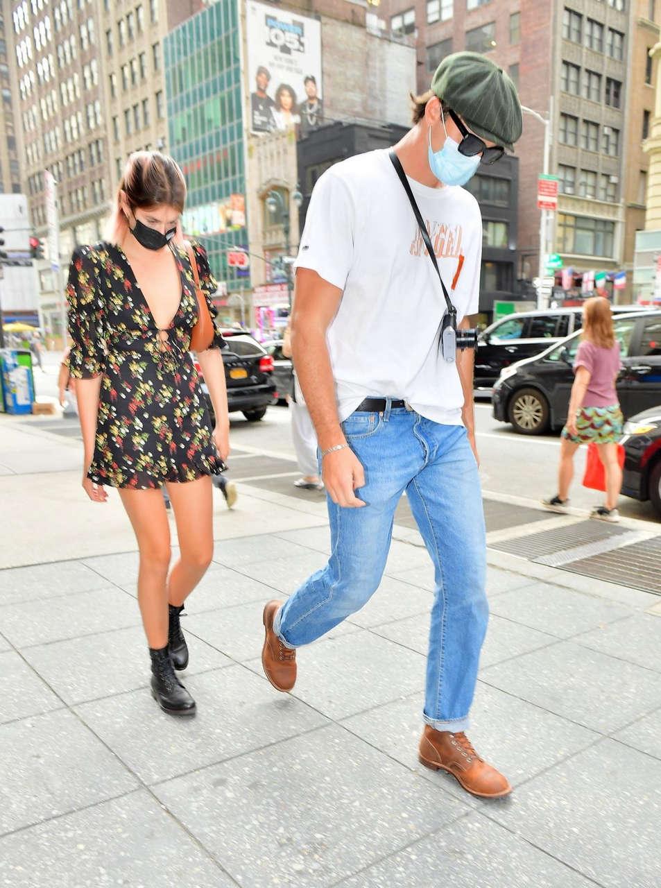 Kaia Gerber Jacob Elordi Heading To Lunch New York
