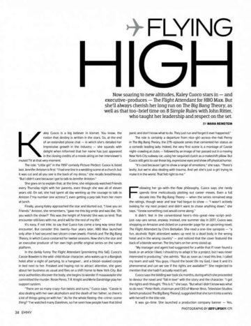 Kaley Cuoco Emmy Magazine October