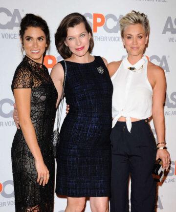 Kaley Cuoco Nikki Reed Milla Jovovich Aspca Compassion Awards Party