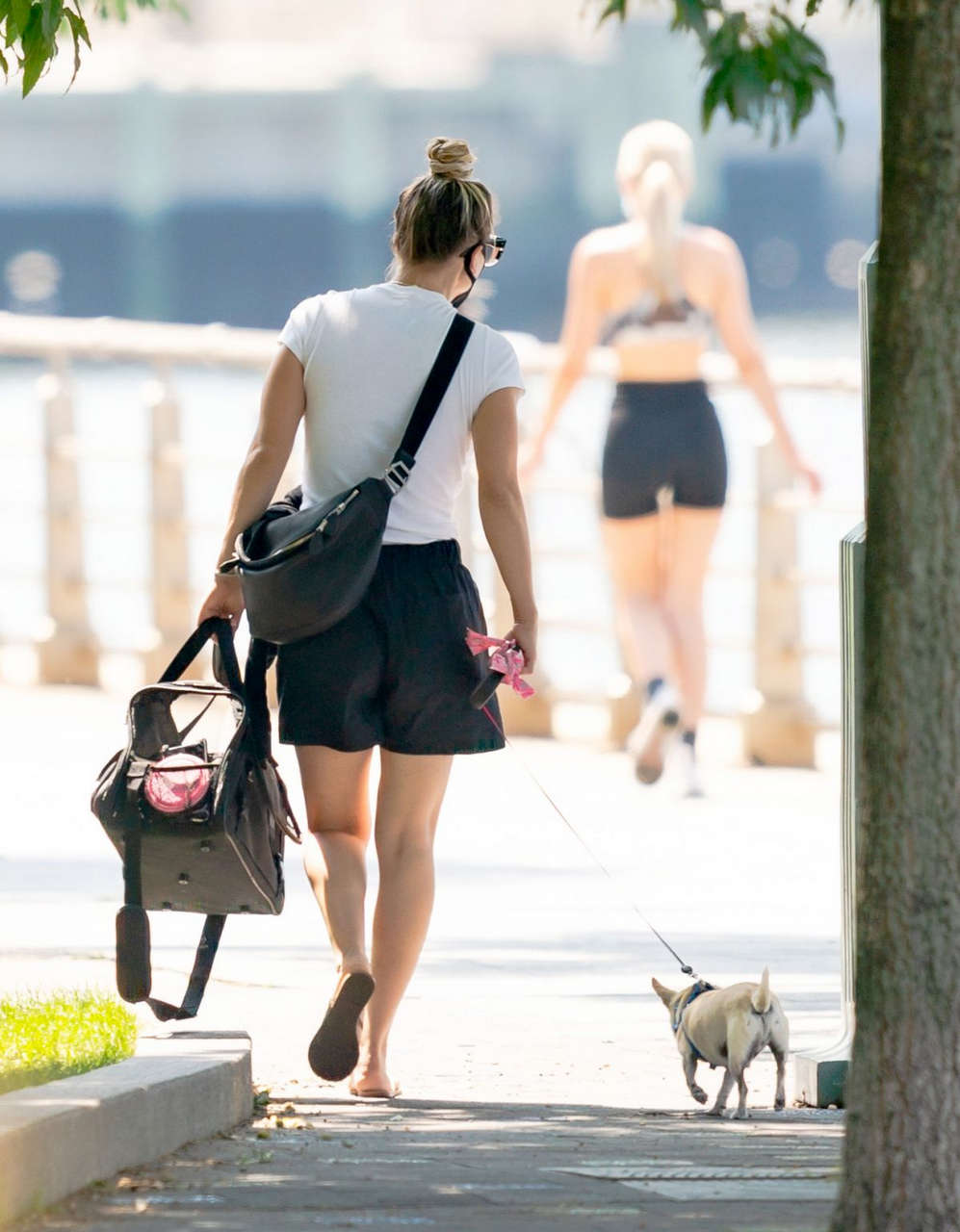 Kaley Cuoco Out With Her Dog New York