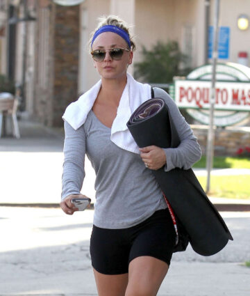 Kaley Cuoco Tight Shorts Leaves Gym Los Angeles