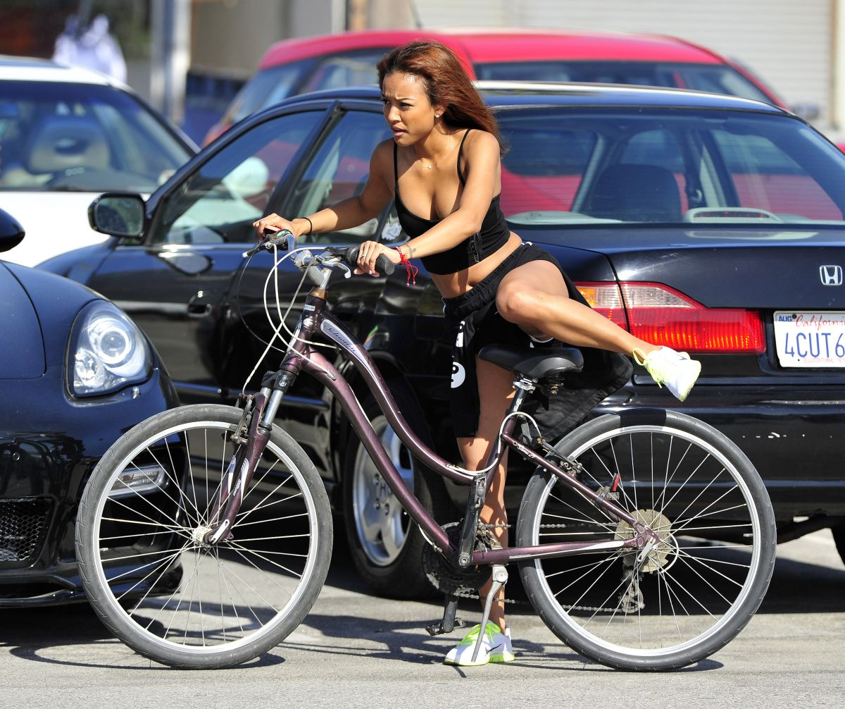 Karreuche Tran Riding Bike Venice