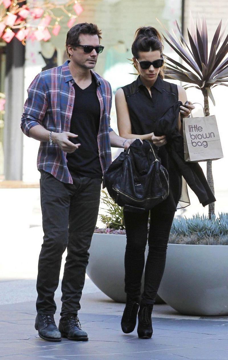 Kate Beckinsale Len Wiseman Out Shopping Santa Monica