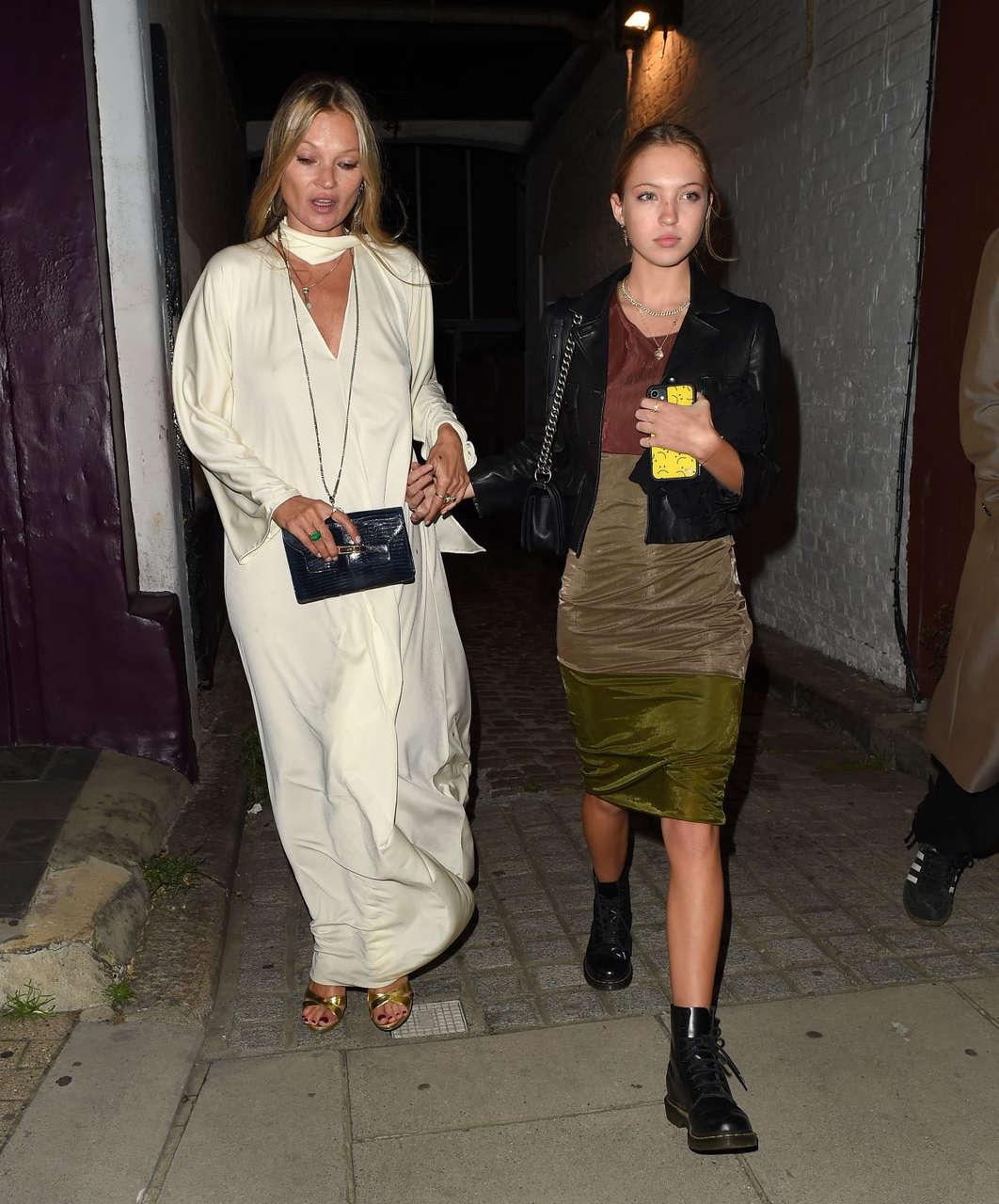 Kate Lila Grace Moss Night Out Notting Hill