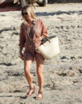 Kate Moss Out Beach Italy