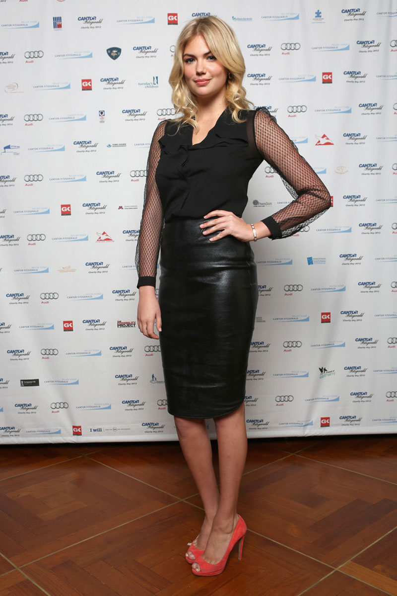 Kate Upton Cantor Fitzgerald Bgc Partners Annual Charity Day New York