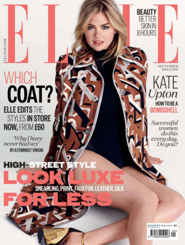 Kate Upton Elle Magazine Uk September 2014 Issue