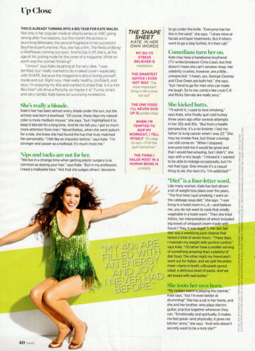 Kate Walsh Shape Magazine March 2012 Issue